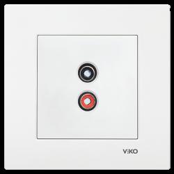 Viko - Viko Karre/Meridian Beyaz Müzik Yayın Prizi Mekanizma (Çerçeve Hariç) (1)