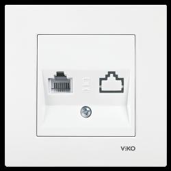 Viko Karre/Meridian Beyaz Tekli Nümeris Cat3 Mekanizma (Çerçeve Hariç)