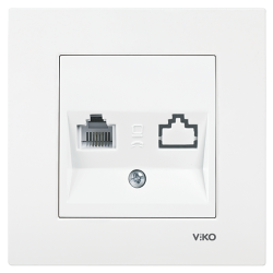 Viko - Viko Karre/Meridian Beyaz Tekli Nümeris Jacksız Mekanizma (Çerçeve Hariç) (1)