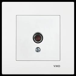Viko Karre/Meridian Beyaz Tv Geçişli 8db Mekanizma (Çerçeve Hariç)