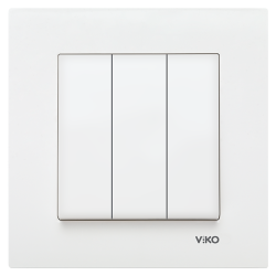 Viko - Viko Karre/Meridian Beyaz Üçlü Anahtar Mekanizma (Çerçeve Hariç) (1)