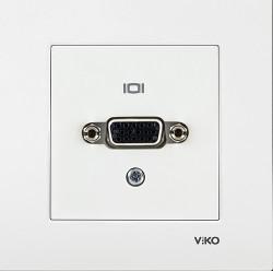 Viko - Viko Karre/Meridian Beyaz Vga Konnektör Mekanizma (Çerçeve Hariç) (1)