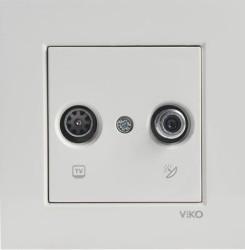Viko - Viko Karre/Meridian Krem Tv-Sat Sonlu Mek+D/K (Çerçeve Hariç) (1)