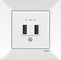 Viko - Viko Karre/Meridian Krem Usb Priz Mekanizma (Çerçeve Hariç) 5v-2a (1)