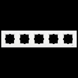 Viko Karre Beyaz Beşli Çerçeve - Thumbnail