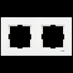 Viko Karre Beyaz İkili Çerçeve - Thumbnail