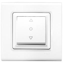 Viko - Viko Linnera/Rollina Beyaz Tek Düğmeli Jaluzi Mekanizma (Çerçeve Hariç) (1)