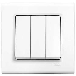 Viko - Viko Linnera/Rollina Beyaz Üçlü Anahtar Mekanizma (Çerçeve Hariç) (1)