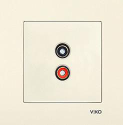Viko - Viko Karre Krem Müzik Yayın Prizi Mekanizma (Çerçeve Hariç) (1)