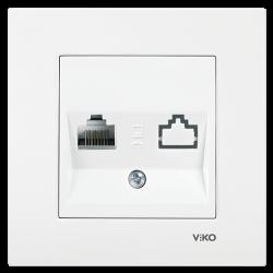 Viko Karre/Meridian Beyaz Tekli Data Cat6 Mekanizma (Çerçeve Hariç) - Thumbnail
