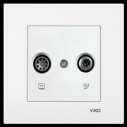 Viko Karre/Meridian Beyaz Tv-Sat Geçişli 8db Mekanizma (Çerçeve Hariç) - Thumbnail