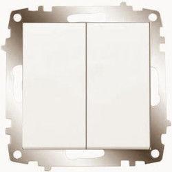 Viko Karre/Meridian Krem Işık Komütatör Mekanizma (Çerçeve Hariç)