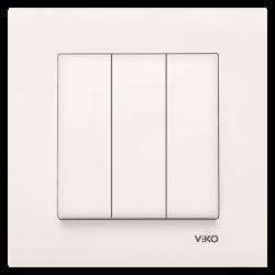 Viko - Viko Karre/Meridian Krem Üçlü Anahtar Mekanizma ( Çerçeve Hariç ) (1)