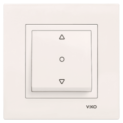 Viko - Viko Karre/Meridian Krem Tek Düğmeli Jaluzi Mekanizma ( Çerçeve Hariç ) (1)