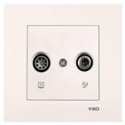 Viko - Viko Karre/Meridian Krem Tv-Sat Geçişli Mekanizma ( Çerçeve Hariç ) (1)