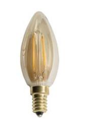 Cata 4w Rustik Led Buji Ampul (E-14 Duy)(Amber) CT-4280 - Thumbnail