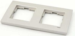 Artline Novella Metalik Beyaz İkili Çerçeve - Thumbnail