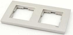 Artline Novella Metalik Beyaz İkili Çerçeve