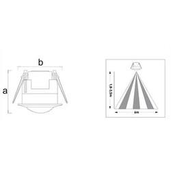 Pelsan - Pelsan Sıva Altı Tavan Sensörü 360 Derece 314726 (1)