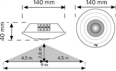 Nade 10360 360° Tavan Tipi Hareket Sensörü-Sıva Üstü
