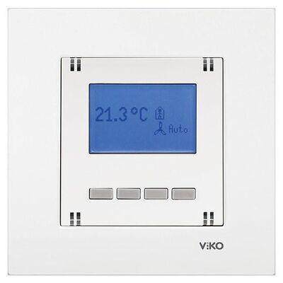 Viko Karre/Meridian Beyaz Digital Termostat Mekanizma ( Çerçeve Hariç )