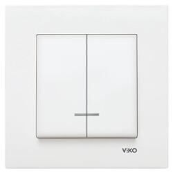 Viko Karre/Meridian Beyaz Işıklı Komütatör Mekanizma (Çerçeve Hariç) - Thumbnail
