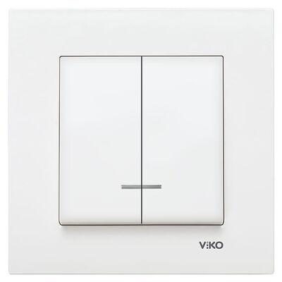 Viko Karre/Meridian Beyaz Işıklı Komütatör Mekanizma (Çerçeve Hariç)
