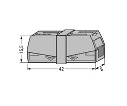 Wago - Wago 224-201 50 Adet 2.5mm2 Gri İki Tarafı Yaylı Aydınlatma Konnektörü (1)