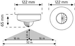 Nade - Nade 10467 360° Tavan Tipi Hareket Sensörü Sıva Üstü (1)