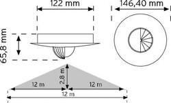 Nade - Nade 10465 360° Tavan Tipi Hareket Sensörü Sıva Altı (1)