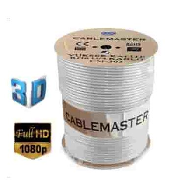 Cablemaster CM-303 64 Tel RG6-U4 Bakır Alaşımlı Anten Kablosu (300 Metre)
