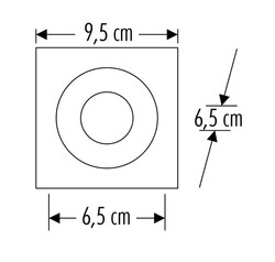 Cata - Cata Atmaca Yuvarlak Spot ( Beyaz Kasa+Siyah ) CT-5033 (1)