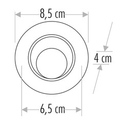 Cata - Cata 8w Safir Led Spot (Beyaz Işık) CT-5256 (1)