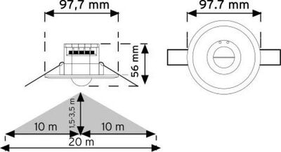 Nade Tavan Tipi (HF) Radar Sıvaaltı Hareket Sensörü – 10366