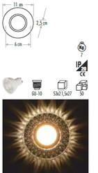 Cata - Cata İpek Led Çerçeveli (Günışığı) Dekoratif Cam Spot Ct-6639 (1)