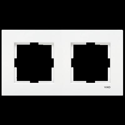 Viko Karre Beyaz İkili Çerçeve