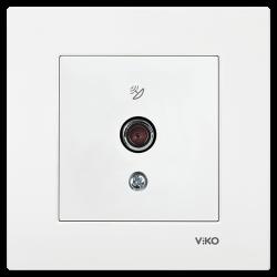 Viko Karre/Meridian Beyaz Uydu Prizi F Konnektör - 10 Db Mekanizma (Çerçeve Hariç) - Thumbnail