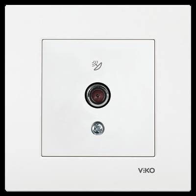 Viko Karre/Meridian Beyaz Uydu Prizi F Konnektör - Sonlu Mekanizma (Çerçeve Hariç)