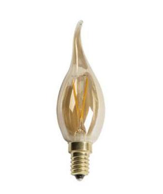 Cata 4w Rustik Led Kıvrık Buji Ampul (E14) (Amber) CT-4281
