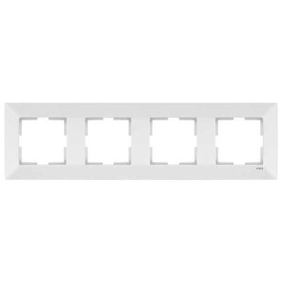 Viko Merıdıan Beyaz 4-Lü Çerçeve
