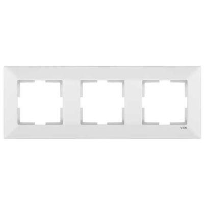 Viko Merıdıan Beyaz 3-Lü Çerçeve