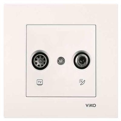 Viko Karre/Meridian Krem Tv-Sat Geçişli Mekanizma ( Çerçeve Hariç )