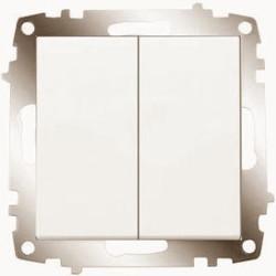 Viko Karre/Meridian Krem Işık Komütatör Mekanizma (Çerçeve Hariç) - Thumbnail