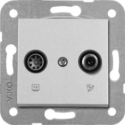 Artline Novella/Trenda Metalik Beyaz Tv-Sat Kapak (Mekanizma Hariç)