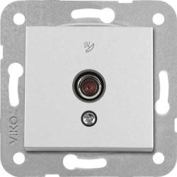 Artline Novella/Trenda Metalik Beyaz F Konnektör Uydu Prizi Kapak (Mekanizma Hariç) - Thumbnail