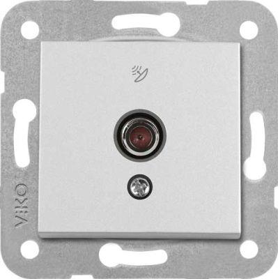 Artline Novella/Trenda Metalik Beyaz F Konnektör Uydu Prizi Kapak (Mekanizma Hariç)