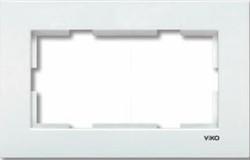 Viko Karre Beyaz İkili Sıvaaltı Çerçeve - Thumbnail