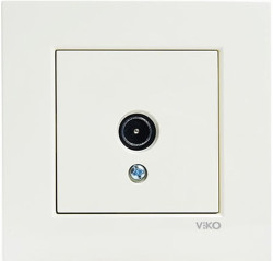 Viko Karre/Meridian Krem Tv Geçişli 12db Mekanizma ( Çerçeve Hariç ) - Thumbnail