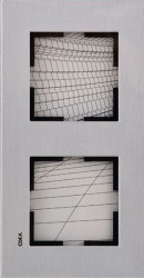 Artline Novella Eloxal Gümüş İkili Çerçeve - Thumbnail