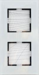 Artline Novella Cam Düz Beyaz İkili Çerçeve - Thumbnail